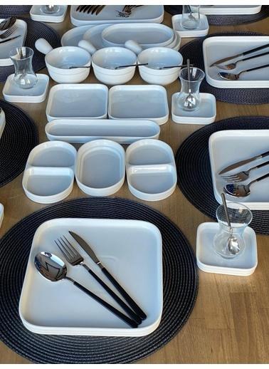 ROSSEV Kahvaltı Takımı Pure 157 Parça 12 Kişilik Renkli